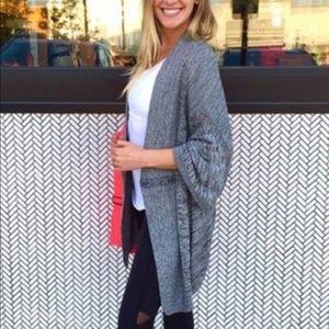 Lululemon Breeze Easy gray cardigan sweater werap